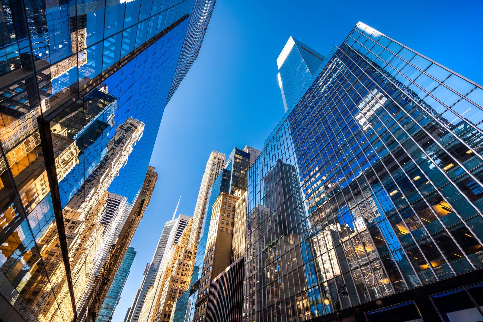 Futuristic skyscrapers in New York City