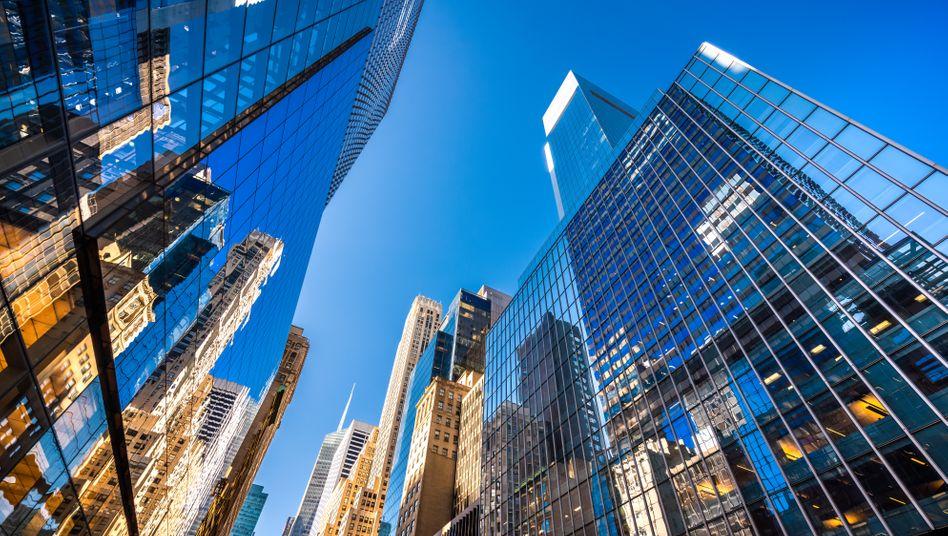 """""""Too big to fail"""" war einmal: Wolkenkratzer in der Finanzmetropole New York."""