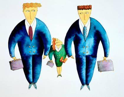 Altbekanntes Bild: Je größer das Unternehmen, desto geringer der Frauenanteil in der Führungsetage