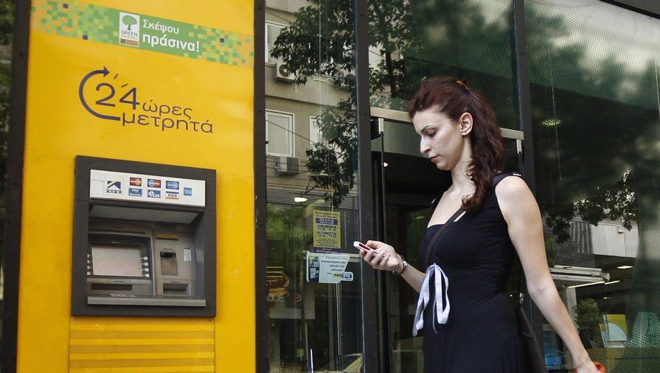 Filiale der griechischen Piraeus Bank.
