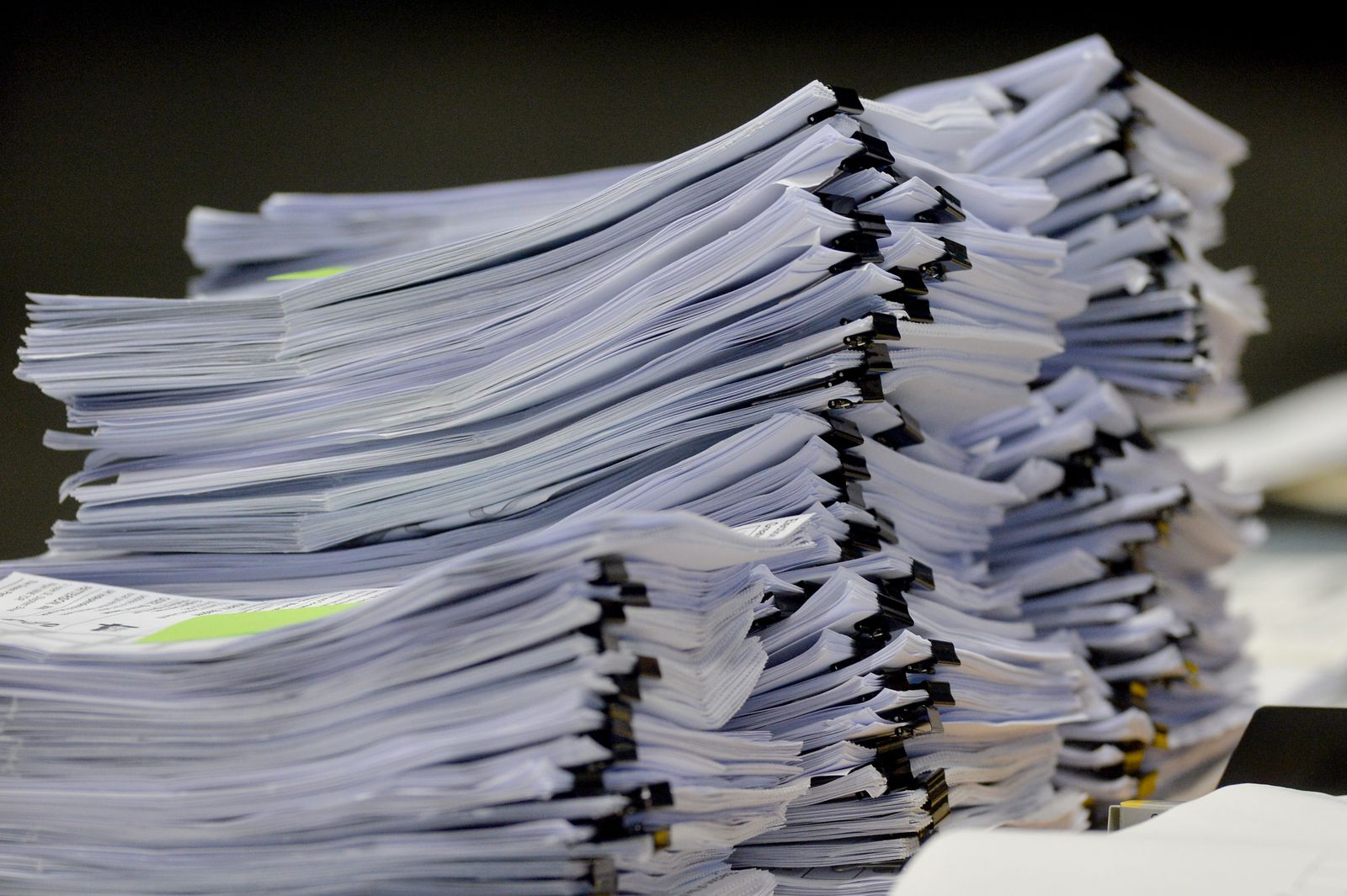 Stapel Papier / Berichte