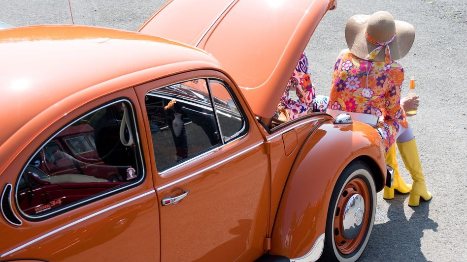 Oldtimer: Traditionsmodell VW Käfer (mit Verbrennungsmotor)