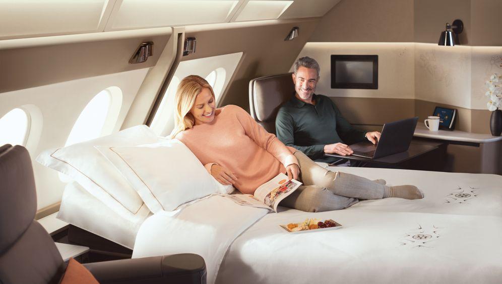 First-Class-Luxus: Hier fliegen Sie im Doppelbett