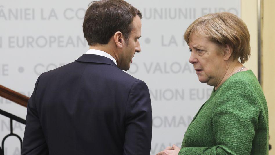 Merkel, Macron: Es wird ein schwieriger Gipfel. Eine Abschlusserklärung ist nicht vorgesehen
