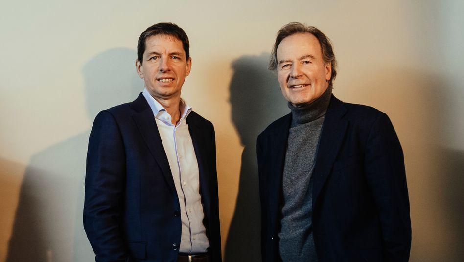 Hoffen auf einen erneuten Coup: Investor Thomas Strüngmann mit Chefaufseher Thomas Jeggle