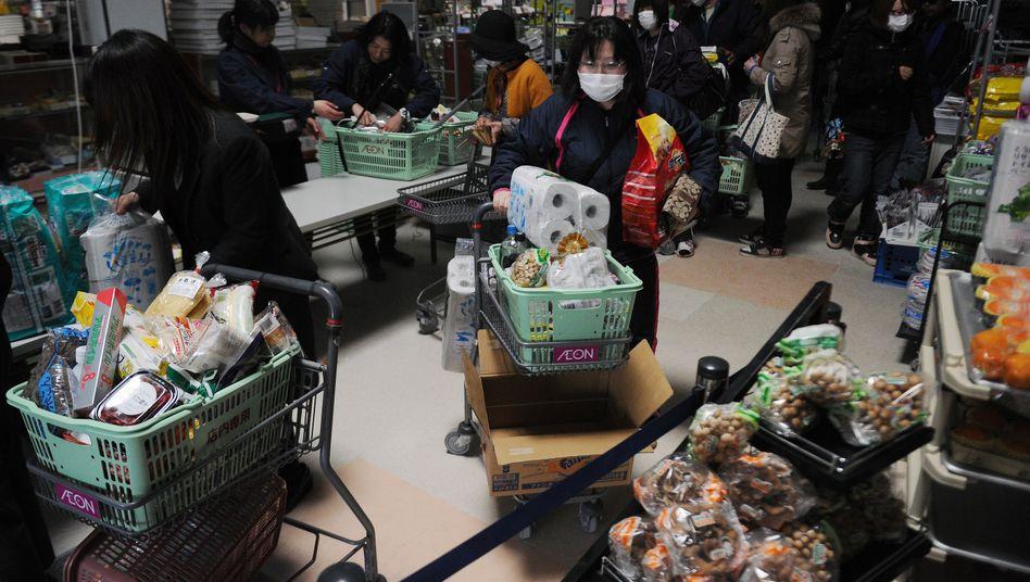 Supermarkt in Japan - demnächst überall mit Kassen für Ältere?