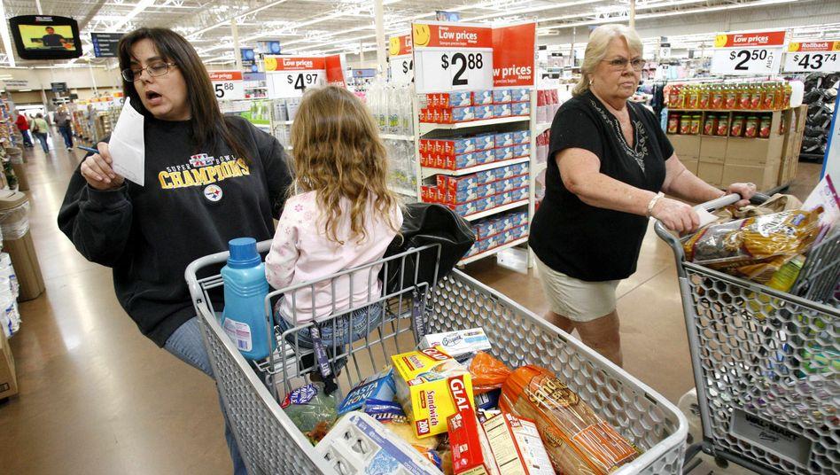 Shoppen und sparen: Wal-Mart wirbt mit Tiefstpreisen