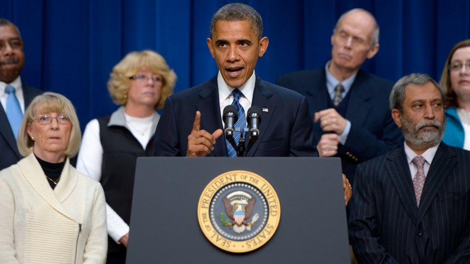 """US-Präsident Obama: """"Ich hoffe, dass sich beide Parteien im Haushaltsstreit bis Weihnachten auf ein Rahmenabkommen einigen können"""""""