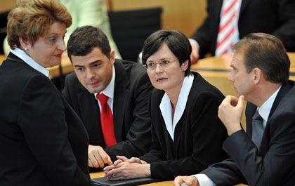 Mit Ach und Krach Ministerpräsidentin: CDU-Politikerin Lieberknecht