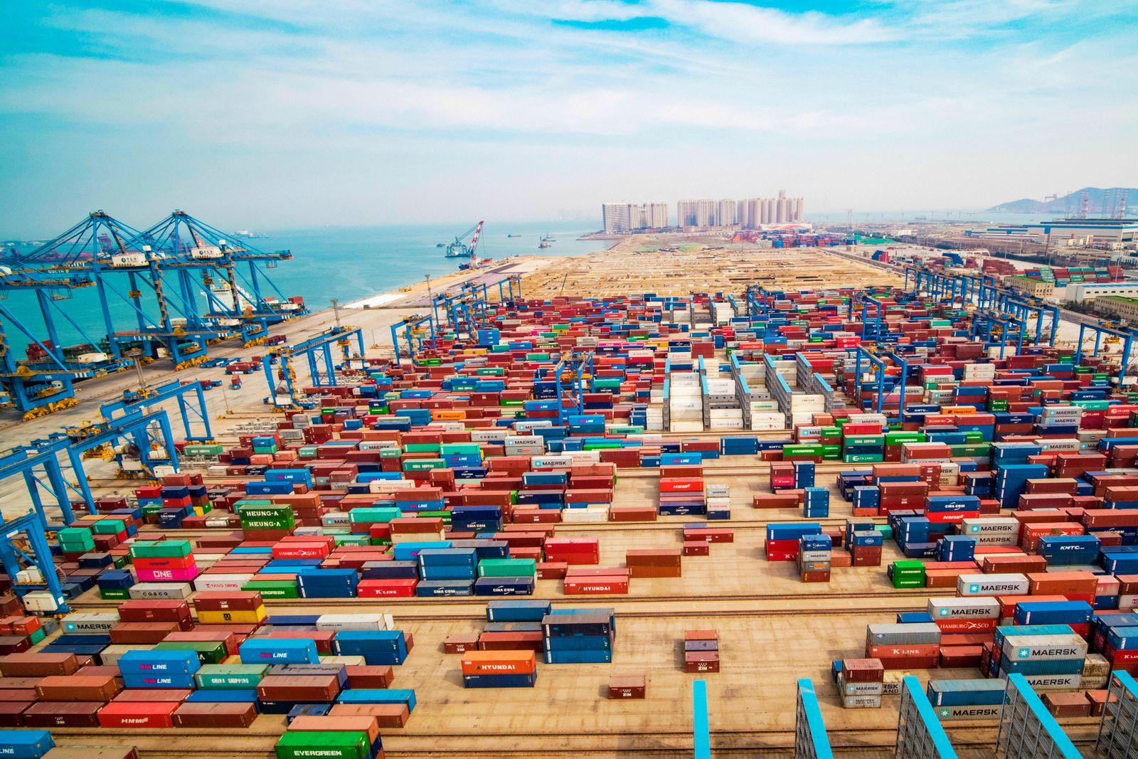 USA / China / Konjunktur / Hafen / Export / Import / Welt-Wirtschaft / Welt-Handel / Handelsstreit