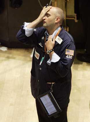 Verzweifelt: Börsenhändler in New York