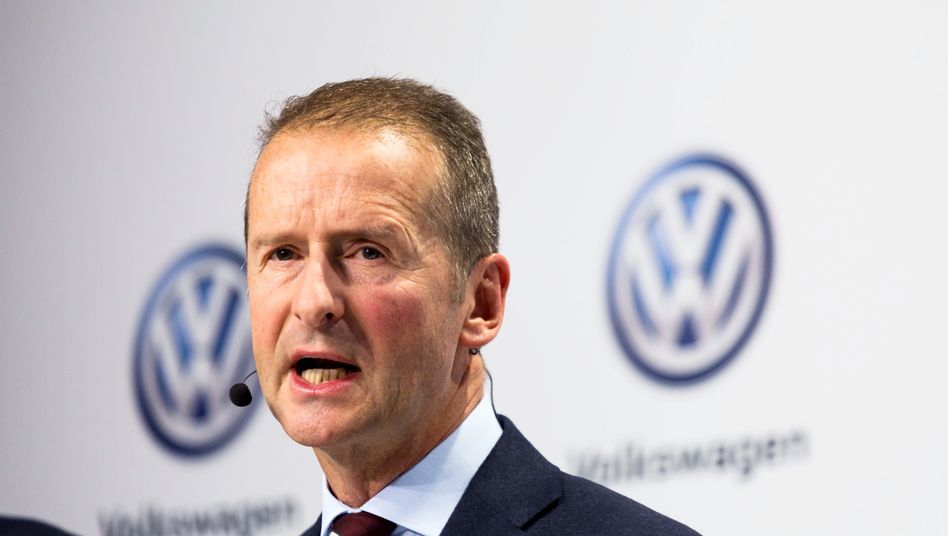 Volkswagen-Chef Herbert Diess hat für die US-Sanktionen kein Verständnis