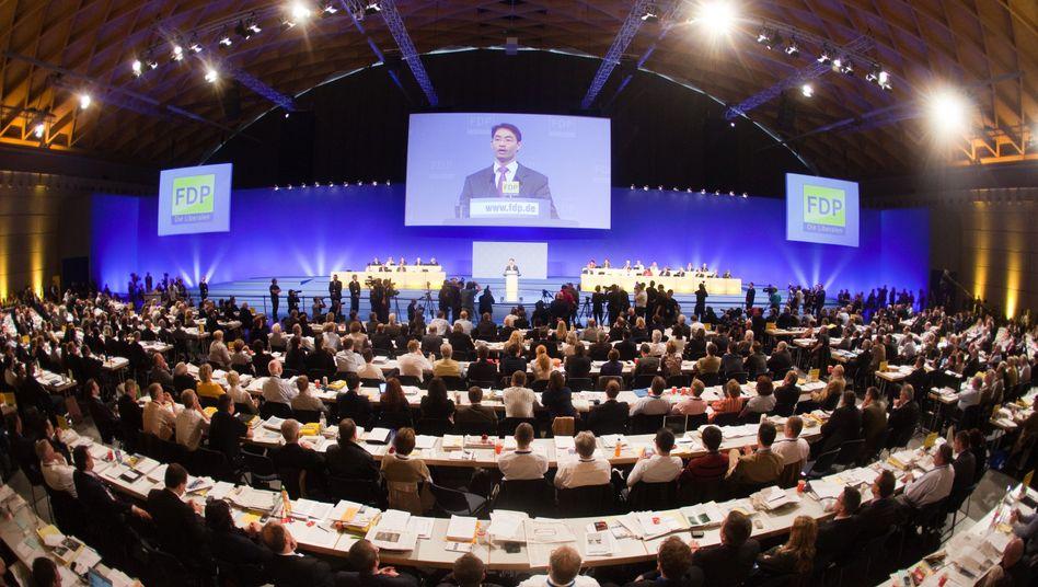 FDP-Parteivorsitzende Philipp Rösler: Muss sich in der Euro-Rettung der Parteibasis stellen