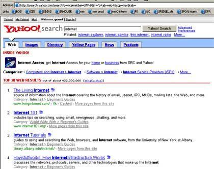 Kampf der Suchmaschinen: Yahoo startet neuen Dienst