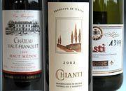 Die Flop-Weinsorten des Jahres: Chianti 2002, Chateau Haut-Franquet, Asti