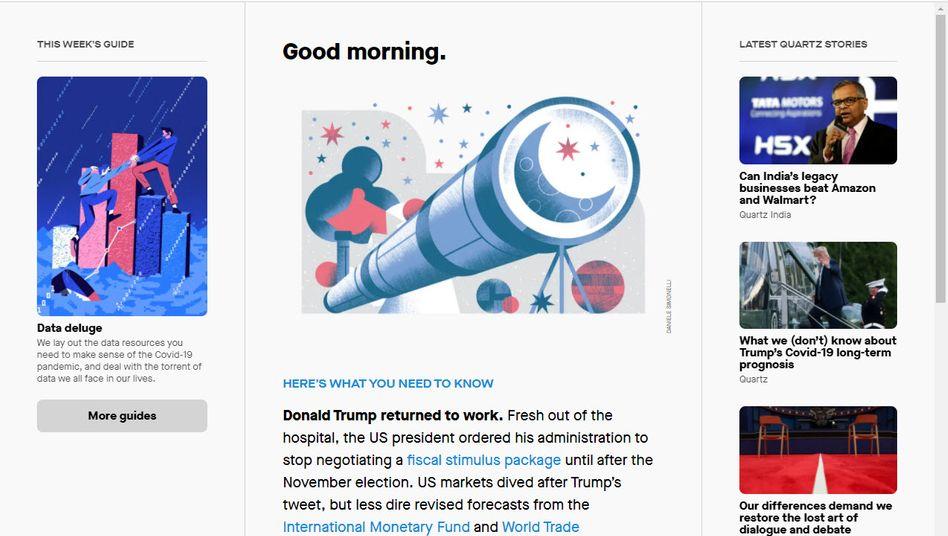 Screenshot von qz.com