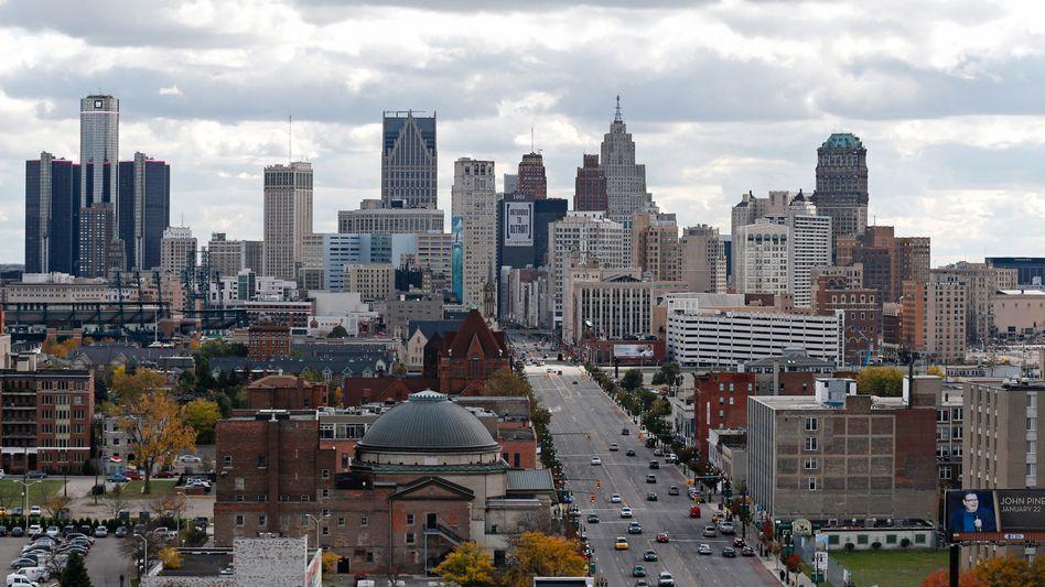 Blick auf Detroit: In der Autostadt gibt es inzwischen mehr Wohnungsmieter als -Eigentümer - wie in vielen anderen US-Metropolen auch.
