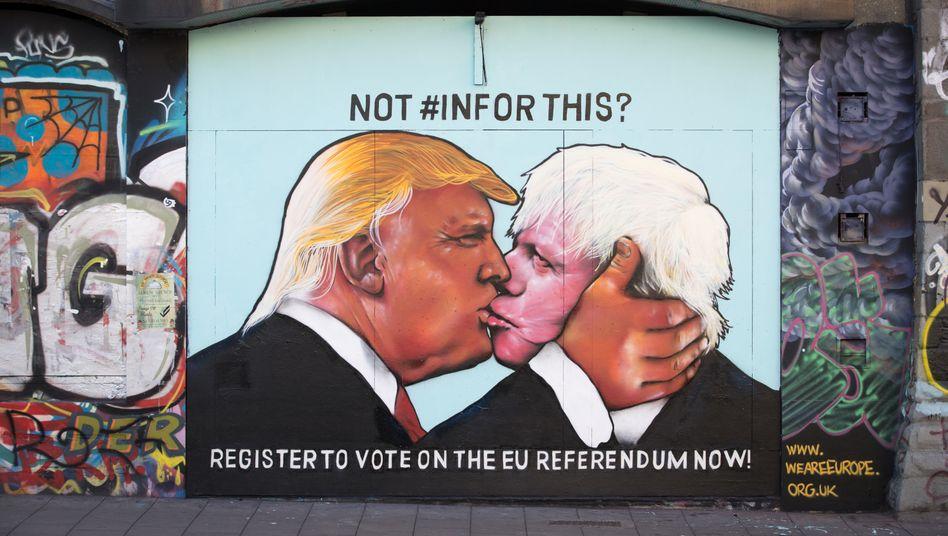 """Brüder im Geiste: Boris Johnson will David Cameron beerben - und vergleicht in bester Trump-Manier die EU mit Hitler. Die Vorlage lieferte der Daily Telegraph - wer für die EU stimme, stimme für das """"Vierte Reich"""""""