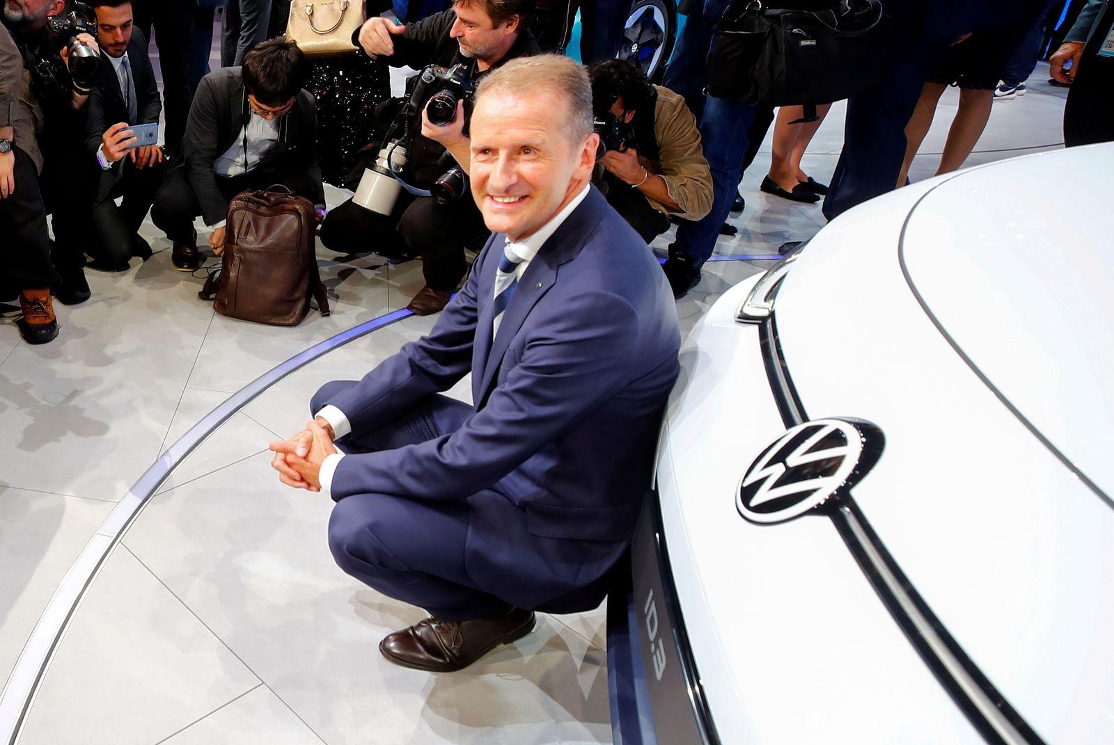FILE PHOTO: Presentation of Volkswagen's electric ID.3 pre-production prototype car on the eve of the International Frankfurt Motor Show IAA in Frankfurt