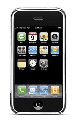Neueinsteiger: Apple präsentierte in der vergangenen Woche sein erstes Mobilfunkhandy