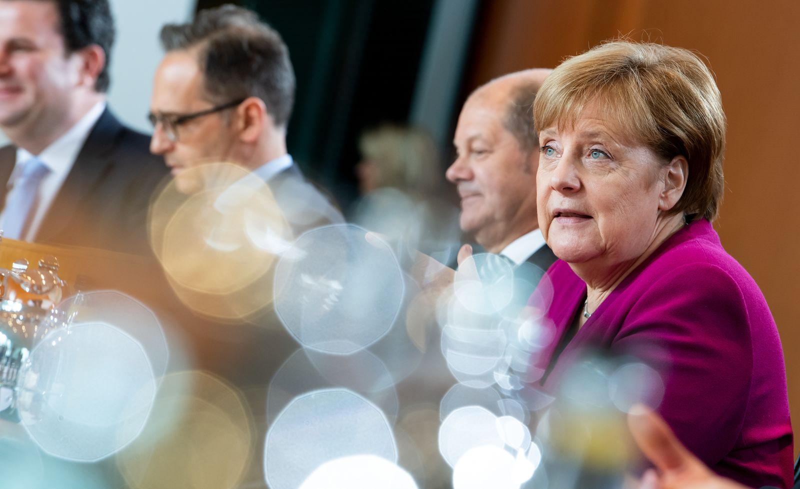 Kabinettssitzung Berlin/ Kabinett 2019/ Merkel Scholz Maas Heil