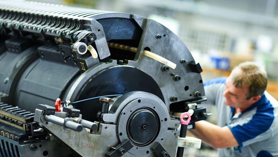 Maschinen made in Germany: Bei physischen Gütern ist Deutschland vorne, bei immateriellen eher nicht