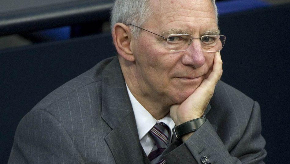 Hat alles im Griff: Bundesfinanzminister Wolfgang Schäuble