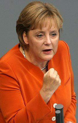 Das Ziel sind 3,5 Prozent: Kanzlerin Merkel