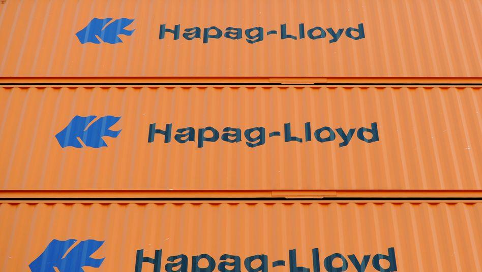 Hapag-Lloyd-Container: Weniger Umsatz, weniger Gewinn - doch zuletzt erholten sich die Frachtraten wieder etwas
