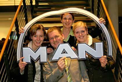 Liebling MAN: Das Team um Sonja Becker präsentierte sein Unternehmen nach Meinung der Teilnehmer am besten