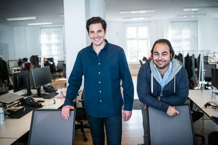 Start-up-Gründer mit Milliardenumsatz: Christian Bertermann (l.) und Hakan Koç