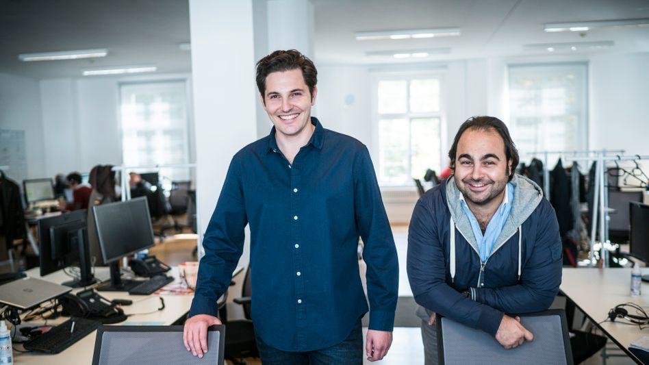Die Corona-Krise hat auch das Start-up Auto1 von Christian Bertermann (l.) und Hakan Koç hart getroffen. Nun wollen sie expandieren.