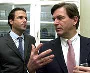 Die Haffa-Brüder Florian (l.) und Thomas