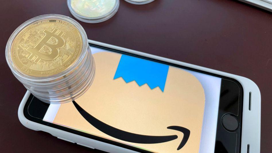 Nur eine Illustration, nur ein Gerücht: Offenbar will Amazon eine Führungsposition im Kryptobereich besetzen - und schon spielt die Bitcoin-Fangemeinde verrückt
