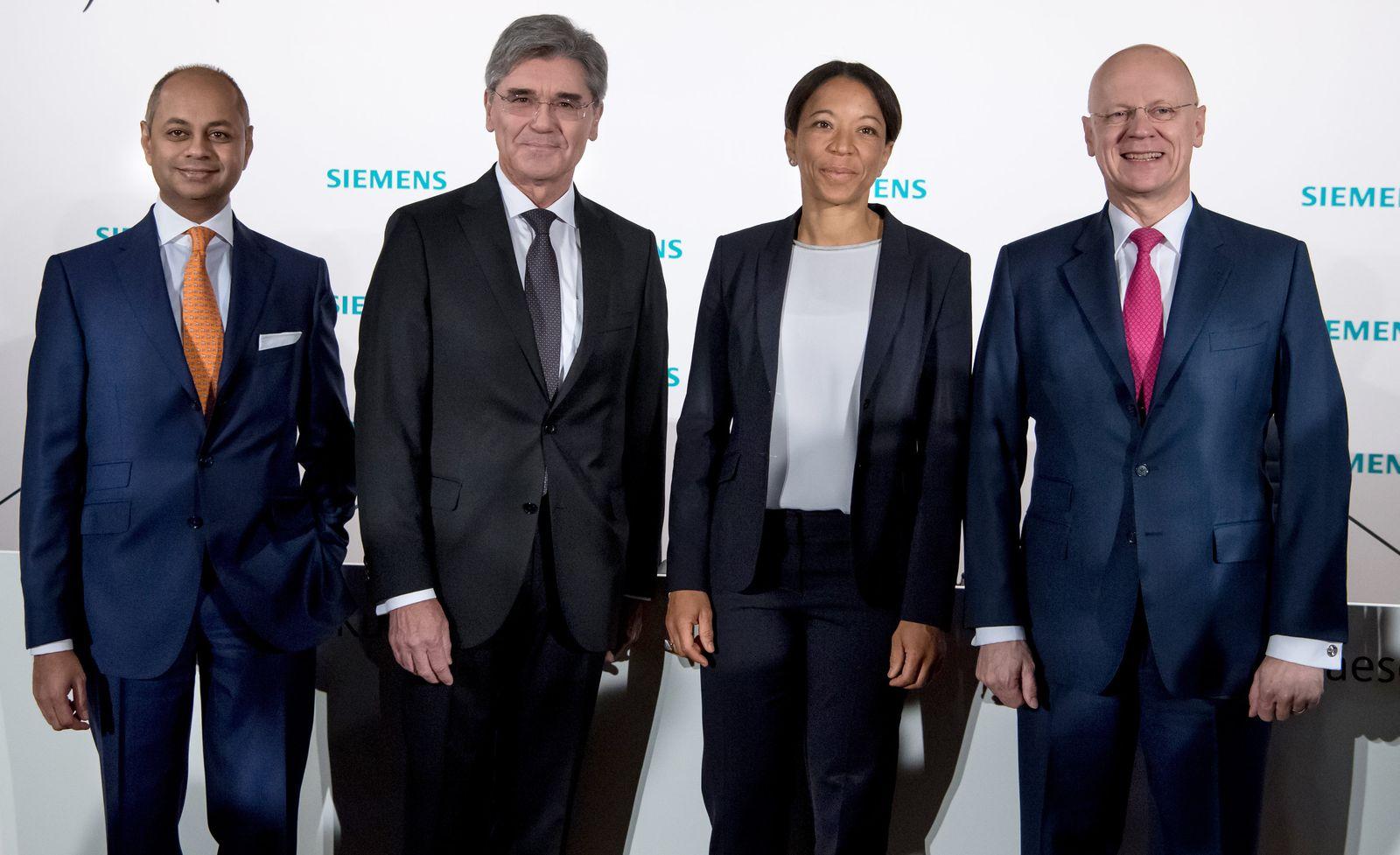 Siemens - Hauptversammlung / Gruppenbild Vorstände