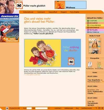 Clever, Clever: Müller hat sich frühzeitig die Internetadresse www.mueller.de gesichert