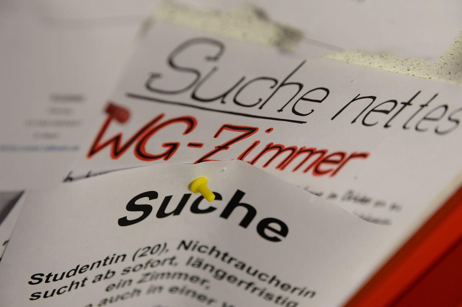 Wohnungssuche / Wohnungsnot / WG / Studenten