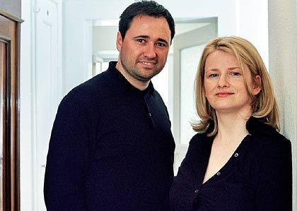 """""""Wie willst du das schaffen?"""" Andrea Throm, Inhaberin einer kleinen Multimedia-Agentur, mit ihrem Mann"""