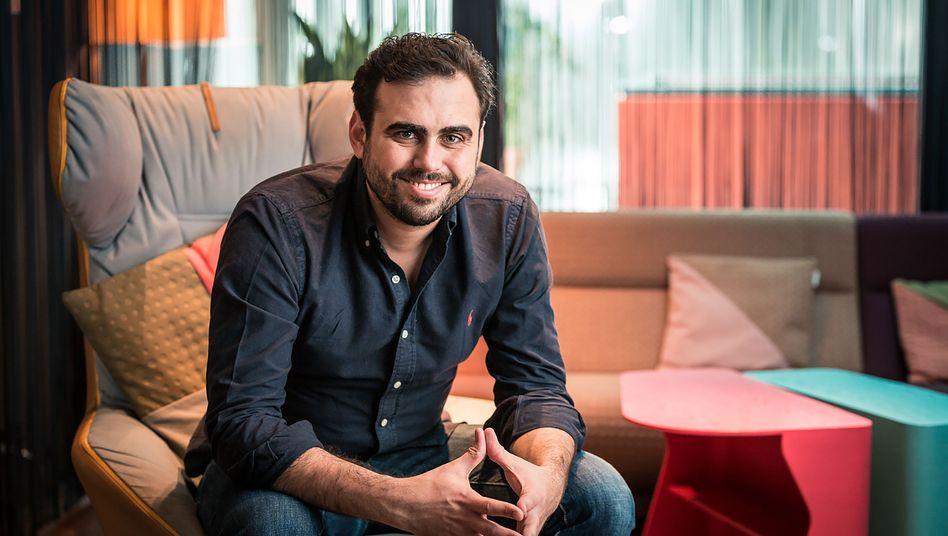 """Hat Großes vor: Wefox-Chef Julian Teicke ist vom Zuspruch der Investoren begeistert und will mit seinem Start-up im Versicherungsgewerbe """"einer der ganz, ganz Großen"""" werden"""