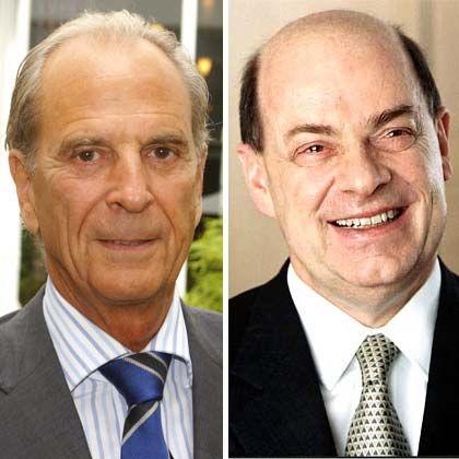 Visionäre der Wirtschaft: Heraeus (l.) und Strube