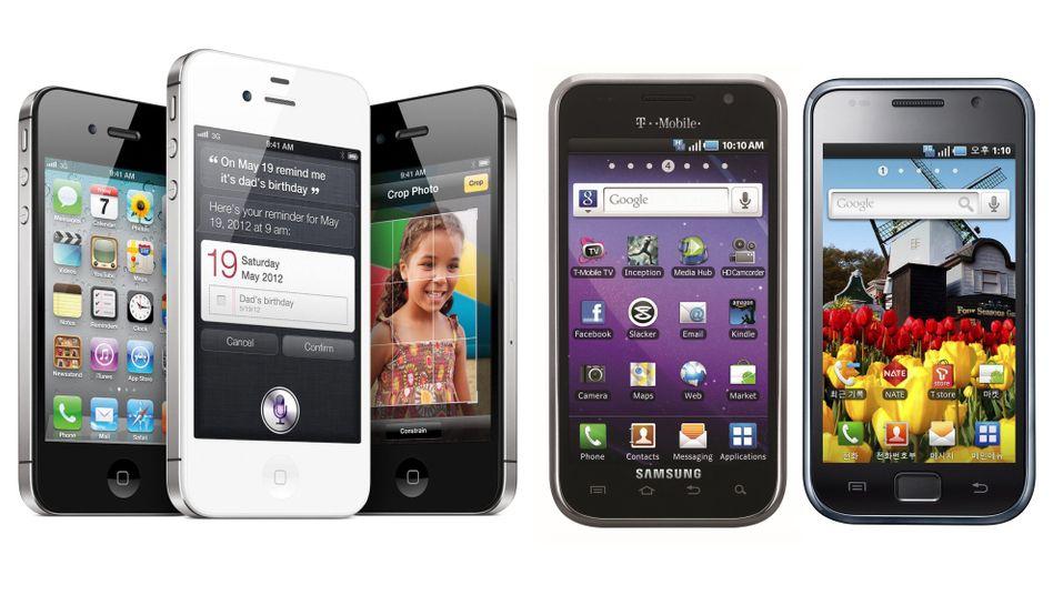 Smartphones: Auf dem Handymarkt dominieren die Betriebssysteme von Apple und Google