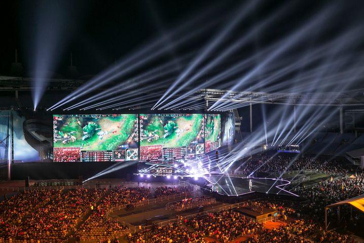 """Arena beim """"League of Legends""""-Weltmeisterschaftsfinale in Incheon, Südkorea"""
