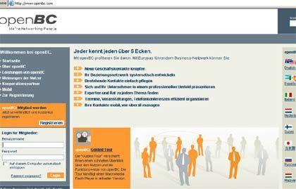 Virtuelles Netzwerk: Über OpenBC lassen sich nützliche Geschäftskontakte knüpfen