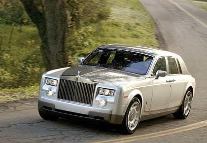 Brocken: Der Rolls-Royce Phantom rollt daher wie ein englisches Schloss