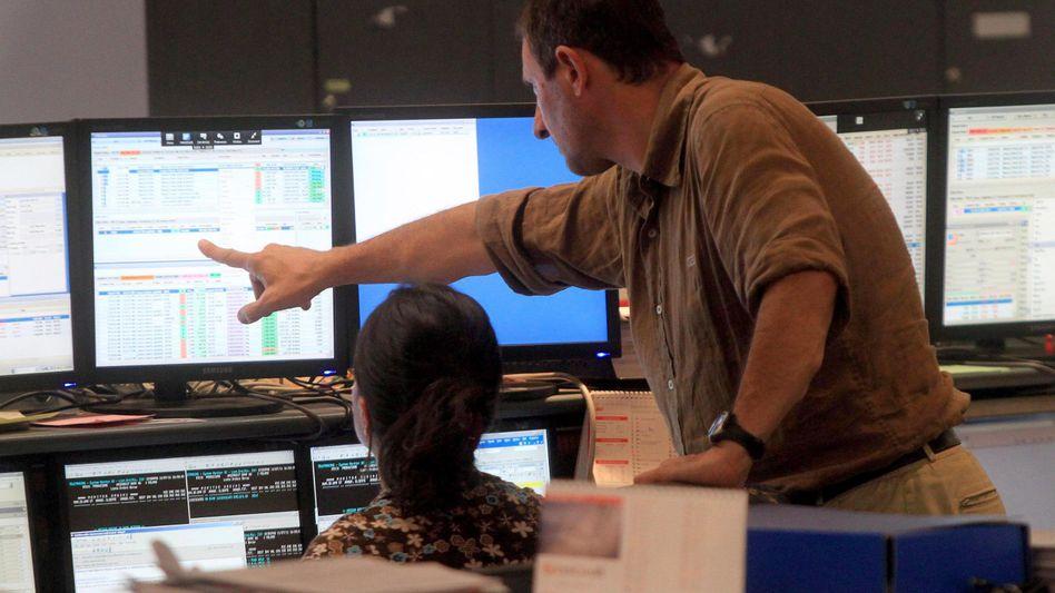 Händler an der Mailänder Börse: Die Anleger beruhigen sich