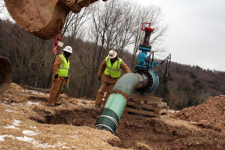 Moderne Fracking-Anlage in Pennsylvania: Vor gut 150 Jahren war der Staat bereits einmal Schauplatz eines Öl-Booms