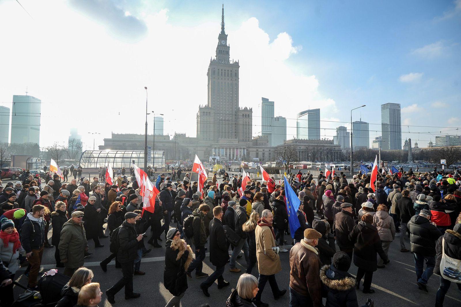 Warschau/ Demonstration