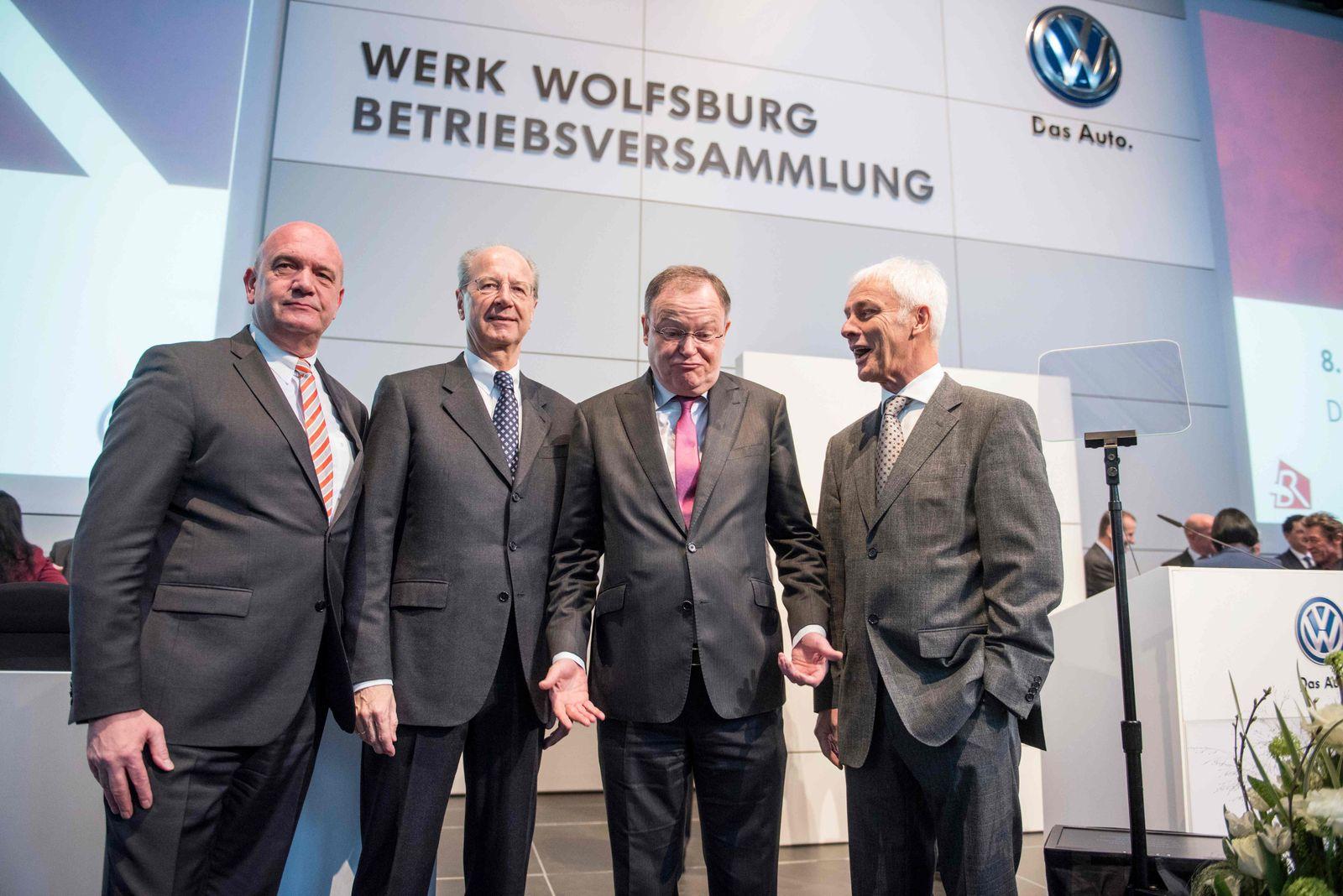 Volkswagen Betriebsversammlung / FBL-EUR-C1-GER-BEL-WOLFSBURG-GENT-GERMANY-TRANSPORT-US-INVESTIGA