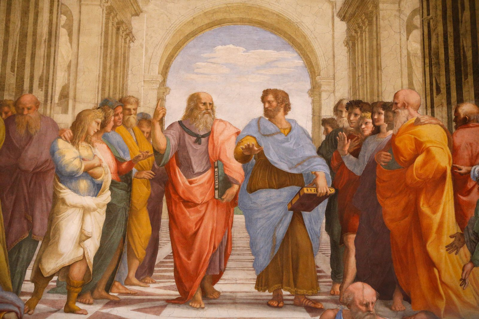NICHT MEHR VERWENDEN! - The School of Athens. Detail of a mural by Raphael painted for P