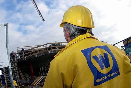 Zerschlagung soll Arbeitsplätze retten: Arbeiter des Walter-Bau-Konzerns